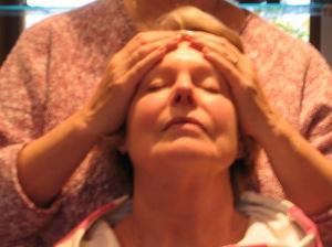 Jane doing head massage